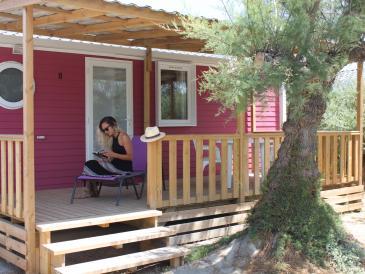 Cottage au Camping Sunêlia Le Clos du Rhône